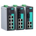 8 - портов индустриален, неуправляем комутатор /суич/  (7*10/100BaseT(X) порта и 1 мулти мод 100BaseFX порт, SC конектор). Широк температурен диапазон :-40 to 75°C
