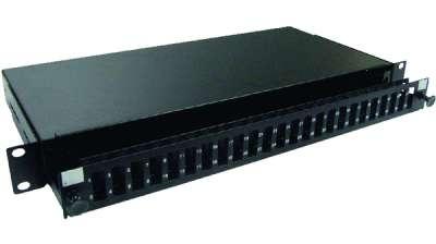 19' 1U оптичен пач панел за до 24 SC/PC Duplex адаптера, телескопичен, празен