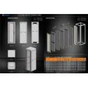 36U 19'  Стоящ комуникационен шкаф, в. 1786 мм,  ш. 610мм, д. 1000мм, стъклена врата, 2000 кг.