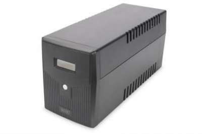 DIGITUS Line-Interactive UPS, 2000VA/1200W, 12V/9Ah x2 battery, 4x CEE 7/7, AVR, USB, RS232, RJ11/45, LCD display