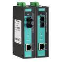 Индустриален медия конветор (10/100BaseT(X) to 100BaseFX, multi mode, SC connector). Температурен диапазон: -10 to 60 °C