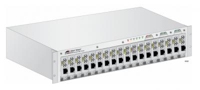 18-Slot Шаси за MMC2xxx Media Converters, one AC Multi-Region PSU