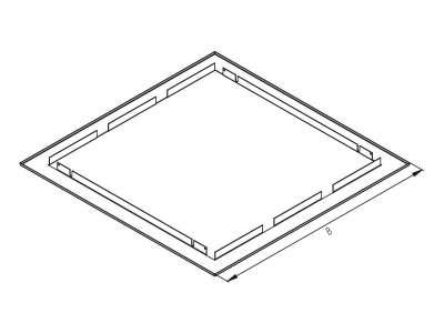 Рамка за вграждане в стена, която се слага около шкафовете. Височина B (mm): 716  /за сериите RNA и SNA/