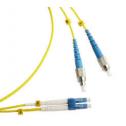 10m Сингъл мод 9/125 oптичен пач кабел, FC/UPC to LC/UPC, Duplex