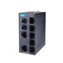 8 - портов индустриален, неуправляем комутатор /суич/ (7*10/100BaseT(X)хRJ45 + 1*FO MM ST), монтаж на DIN шина, -10 до 60°C работна температура
