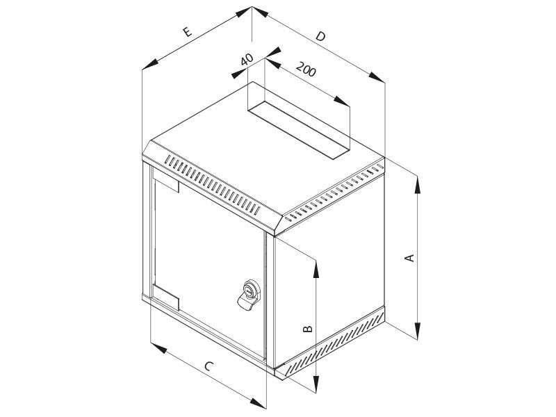 9u 10 One Sectioned Wall Mounted Rack Dimentions Height 470mm Width 310mm Depth 260mm