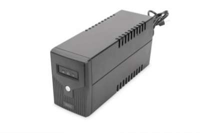 DIGITUS Line-Interactive UPS, 600VA/360W, 12V/7Ah x1 battery, 2x CEE 7/7, AVR, RJ-11, LED display