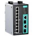 10 - портов индустриален, управляем PoE комутатор /суич/ (8*PoE+ ports, 2 combo gigabit Ethernet ports). Широк температурен диапазон: -40 to 75°C
