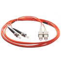 5m Мулти мод OM2, 50/125 oптичен пач кабел, ST/UPC to SC/UPC, Duplex