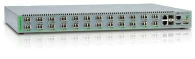 24 - портов  управляем, стекируем комутатор /суич/ (8*100 FX multimode, LC конектор); 2 активни захранващи блока