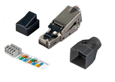 Конектор INFRALAN® FTPS600 fieldinstallable plug RJ45 Cat.6 AWG22 - 27, zinc diecast