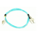 2m Мулти мод OM3, 50/125 оптичен пач кабел, LC/UPC to SC/UPC, Duplex
