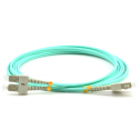 2m Мулти мод OM3, 50/125 оптичен пач кабел, SC/UPC to SC/UPC, Duplex