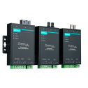Индустриален медия конвертор RS-232/422/485 to Fiber Optic. SC конектор, Single-mode. Температурен диапазон: -40 to 75°C