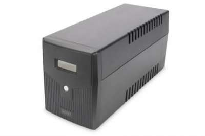 DIGITUS Line-Interactive UPS, 1000VA/600W, 12V/7Ah x2 battery, 4x CEE 7/7, AVR, USB, RS232, RJ11/RJ45, LCD display