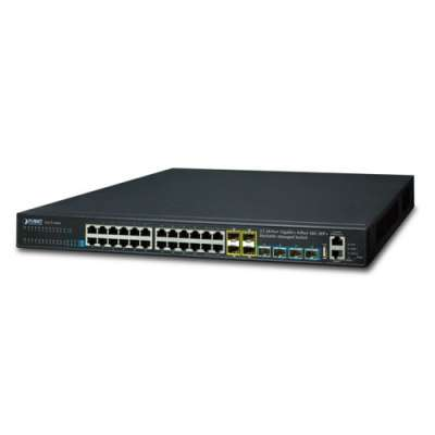 Layer 3 24-Port 10/100/1000T + 4-Port 10G SFP+ Stackable Managed Switch