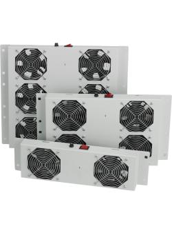 Вентилаторен блок с 4 вентилатора и аналогов термостат, за стоящи шкафове