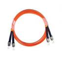 1m Мулти мод OM1, 62.5/125 оптичен пач кабел, ST/UPC to ST/UPC, Duplex