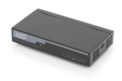 Комутатор /суич/, DIGITUS 8 port gigabit desktop switch