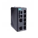 8 - портов индустриален, неуправляем комутатор /суич/ (7*10/100BaseT(X)хRJ45 + 1*FO MM SC), монтаж на DIN шина, -10 до 60°C работна температура