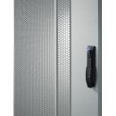 16U 19'  Стоящ комуникационен/сървърен шкаф. Размери: височина 872мм; широчина 610мм; дълбочина 1000мм. Товароносимост: 2000 кг. Перфорирани врати. Цвят: светло сив