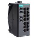 16 - портов индустриален, неуправляем комутатор /суич/ (14*10/100BaseT(X)хRJ45 + 2*100BaseFX MM ST), монтаж на DIN шина, -40 до 75°C работна температура