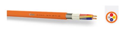 Кабел, устойчив на горене JE-H(St)H FE180 2x2x0,80mm+0,80 mm ...Bd