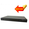 Управляем, индустриален Gigabit Ethernet PoE+ Rack Mountable Switch (24) 10/100/1000Base-T PoE+ Ports + (4) 100/1000Base-X SFP Slots + (4) 1G/10GBase-X SFP+ Slots
