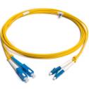 8m Сингъл мод 9/125 оптичен пач корд, LC/UPC to SC/UPC, Duplex