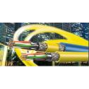 S/FTP кат. 7А меден инсталационен кабел, LSFR0H, 1200MHz, едножилен (solid), жълт