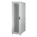 42U 19'  Стоящ комуникационен/сървърен шкаф. Размери: височина 2028мм; широчина 610мм; дълбочина 1000мм. Товароносимост: 1000 кг. Перфорирани врати. Цвят: светло сив