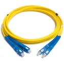 5m Сингъл мод 9/125 oптичен пач кабел, SC/UPC to SC/UPC, Duplex