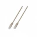 FTP кат.6 пач кабел с RJ45 конектори, PVC, 1м, бял