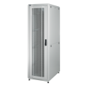 42U 19'  Стоящ комуникационен/сървърен шкаф. Размери: височина 2028мм; широчина 800мм; дълбочина 1000мм. Товароносимост: 1000 кг. Перфорирани врати. Цвят: светло сив