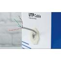 UTP кабел, кат. 5Е, 4Р 24AWG, PVC, solid, 305m